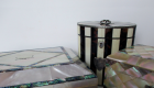 Mother-of-pearl & abalone tea caddies
