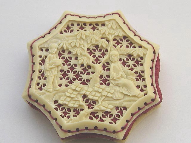 Octagonal Chinese carved pinwheel