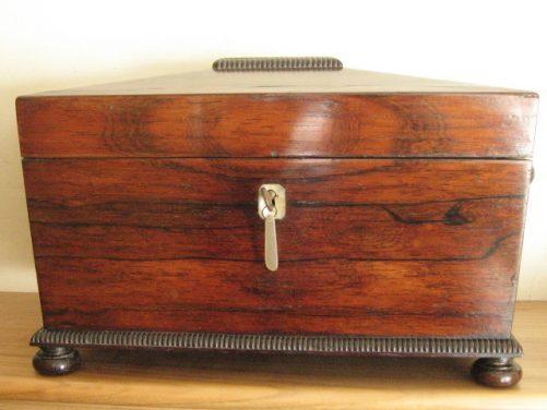 Regency rosewood tea caddy