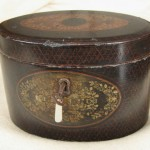Chinese export oval tea caddy c.1810