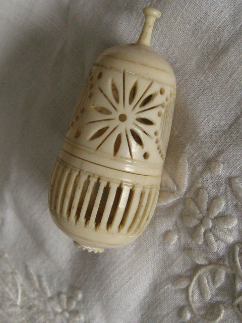 Victorian bone box cricket cage gourd pierced
