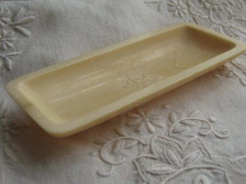 Antique ivory pin tray