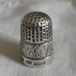 Antique silver thimble James Fenton