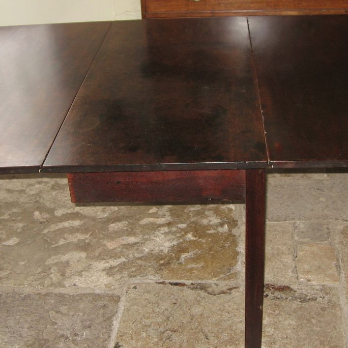 Georgian drop leaf Cuban mahogany dining table