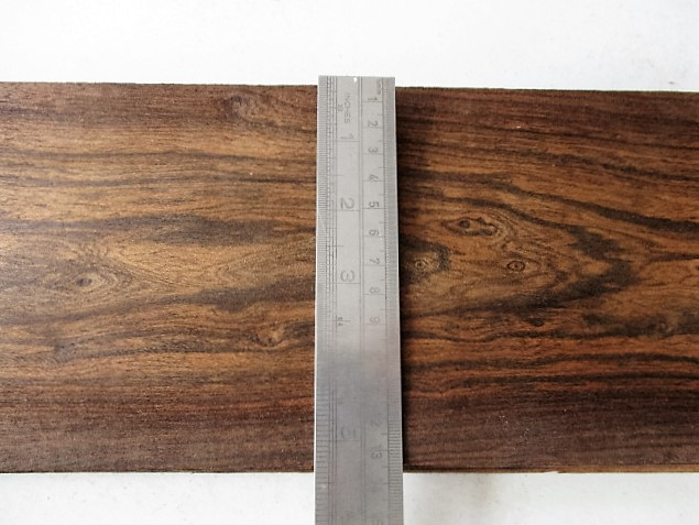 Veneer, antique rio rosewood veneer, five inches wide, fifty inches long