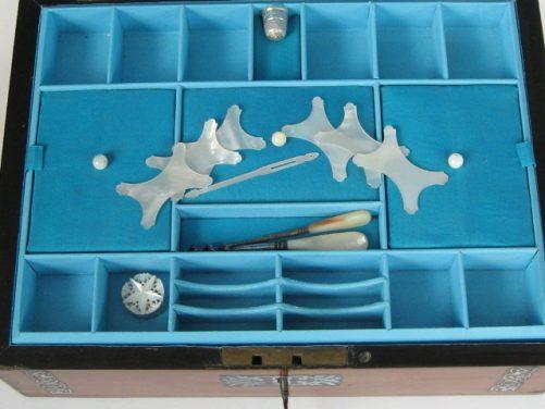 Satinwood sewing box